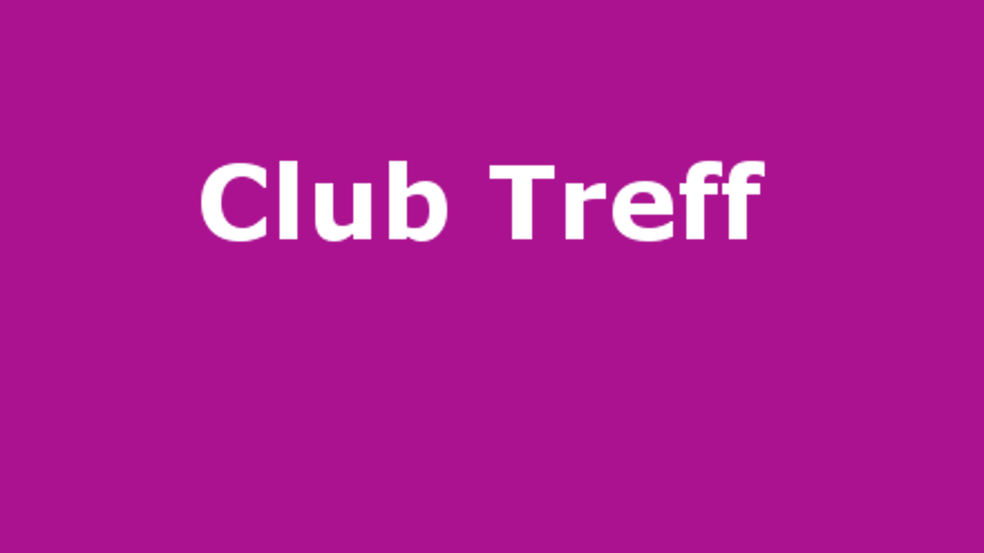 Club Treff September 2018